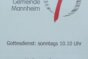 Schild FeG Mannheim
