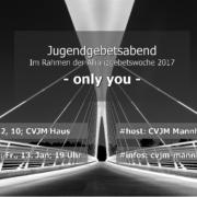 Allianzgebetswoche 2017 in Mannheim - Jugendabend im CVJM