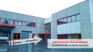 Eisenbahnstraße Mannheim - FeG Mannheim Gemeindehaus - Gottesdienste - Bibelstunde - Teenkreis - Konfi