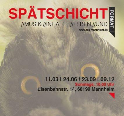 Eulen aufgepasst: Der hier fällt in eure Spätschicht: Jugendgottesdienst der FeG in Mannheim.