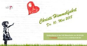 Christi Himmelfahrt - mit Frühstück und Godi durchstarten! 10. Mai 2018 @ FeG Gemeindezentrum | Mannheim | Baden-Württemberg | Deutschland