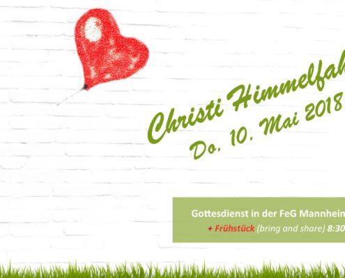 Gottesdienst und Frühstück zu Christi Himmelfahrt in der Freien evangelischen Gemeinde in Mannheim (FeG) am 10. Mai 2018