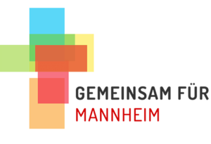 Logo der stadtweiten ökumenischen Aktion Gemeinsam für Mannheim - Jesus Christus