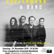 Konzertlesung mit Arne Kopfermann und Band.