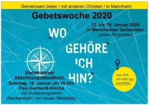 Gemeinsam im Gebet - Wo gehöre ich hin - Allianzgebetswoche 2020 in Mannheim